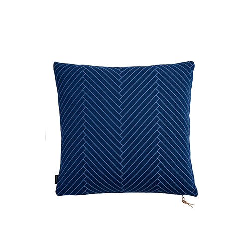 Fluffy Herringbone Dark Blue Cushion