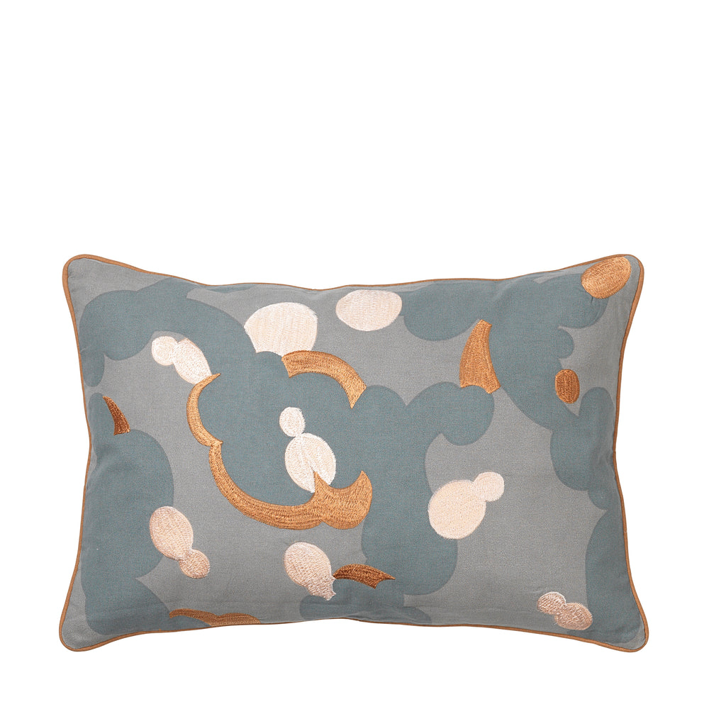 Cushion Japan Drizzle Grey Green in House of Gefion