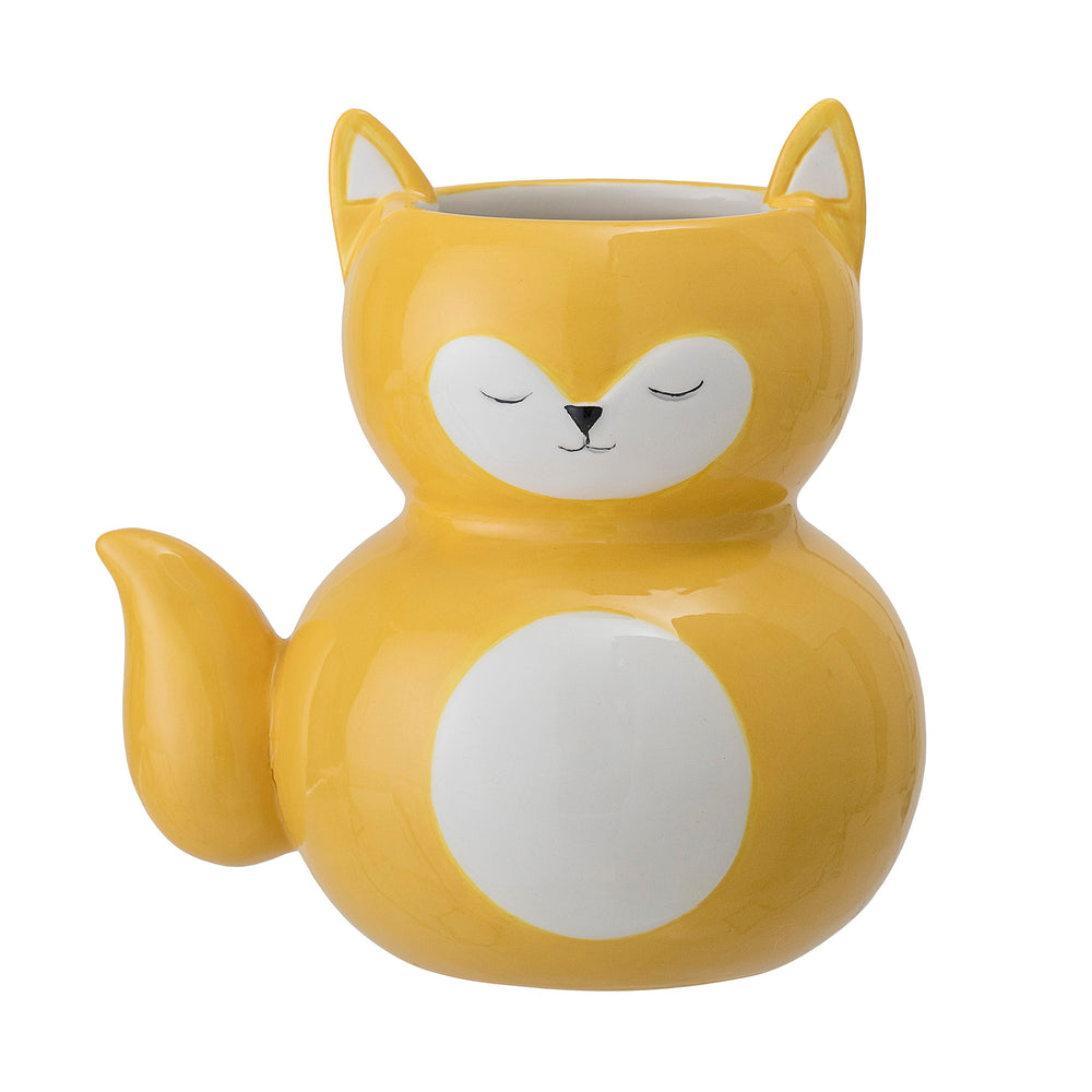Yellow Cat - Flowerpot / Pencil holder + bloomingville + house of gefion
