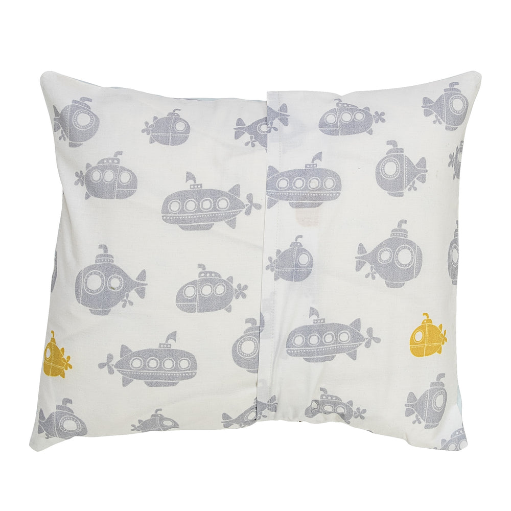 Jonah Junior Linen, Duvet/Pillow, Green, Submarine + house of gefion