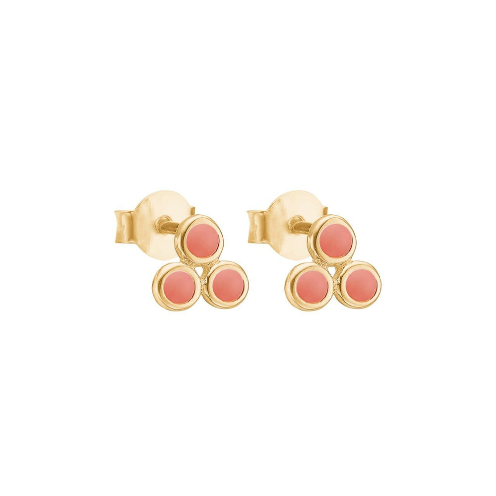 Stud Triple Dots Earring
