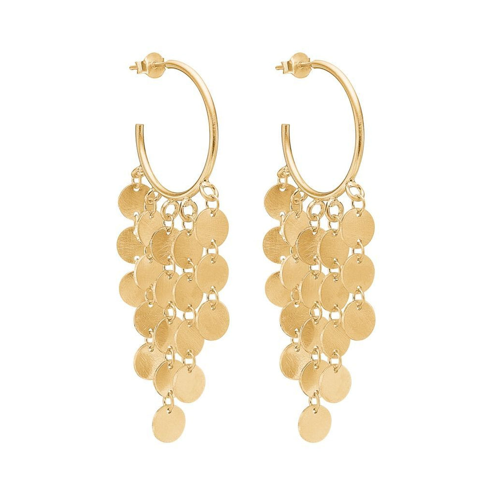 Raindrops Hoops Earring