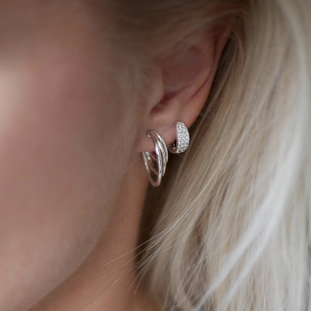 Triple Loop Hoop Earring + house of gefion