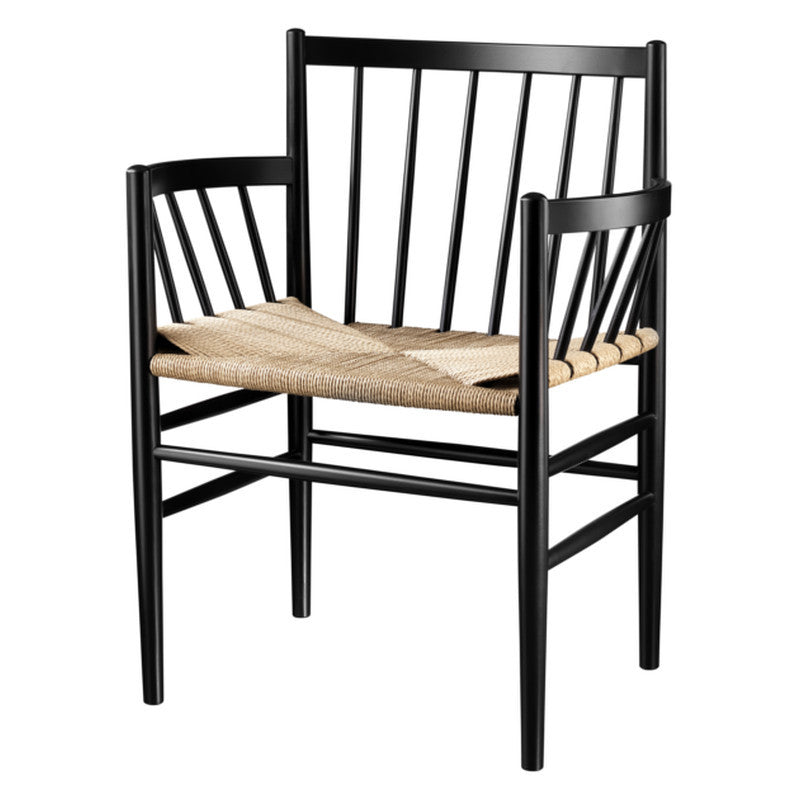 J81 Dining Chair - Black / Nature