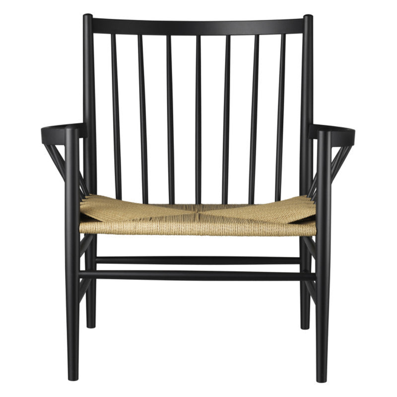 J82 Lounge Chair - Black / Nature sold in House of Gefion