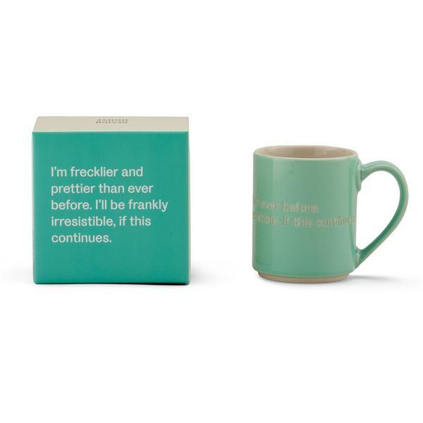 Astrid Lindgren Mug - I'm frecklier and prettier than ever...