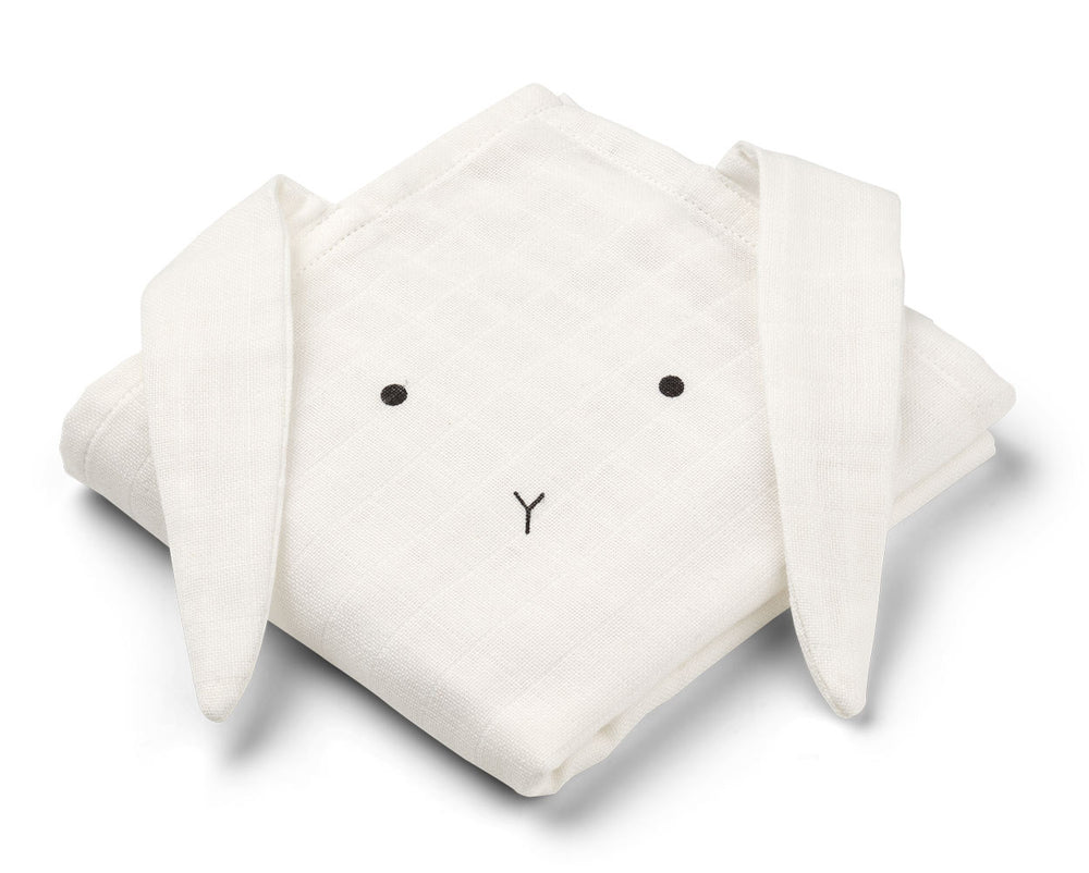 Hannah / Muslin Cloth / Rabbit / 2pack - Rabbit Creme de la Creme