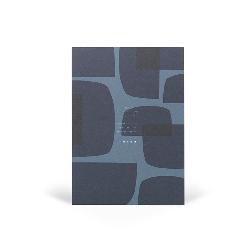 JO Notepad, Blue Shapes sold in house of gefion