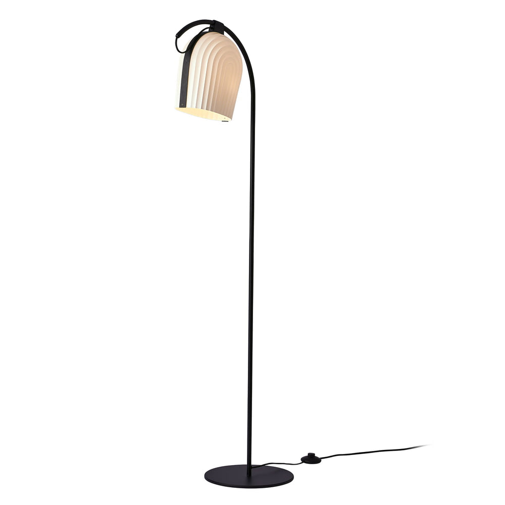 Arc Floor Lamp - black oak
