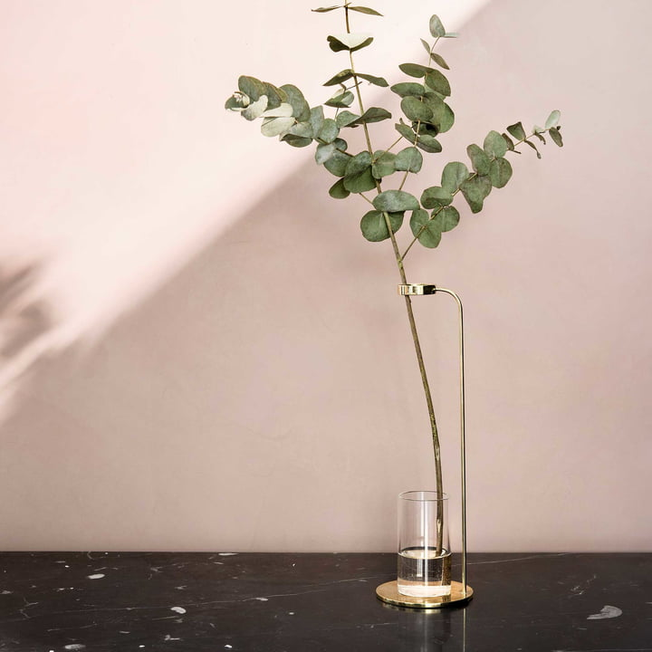 Stem Vase Polished Brass