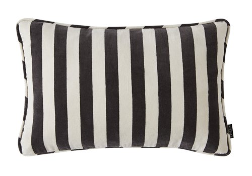 Confect Cushion Velvet - black & white