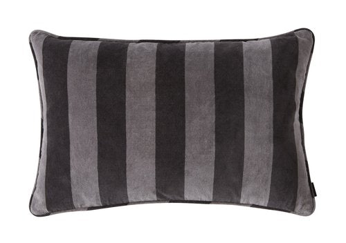 Confect Cushion Velvet - Asphalt / Dark Grey