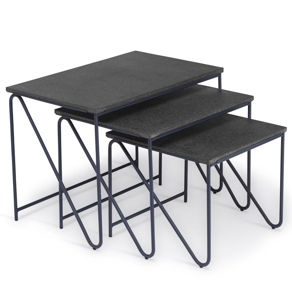Triptych nesting table designed by all the way to paris from please wait to be seated