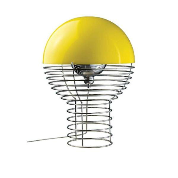 Wire Large Table Lamp in Yellow by Verner Panton