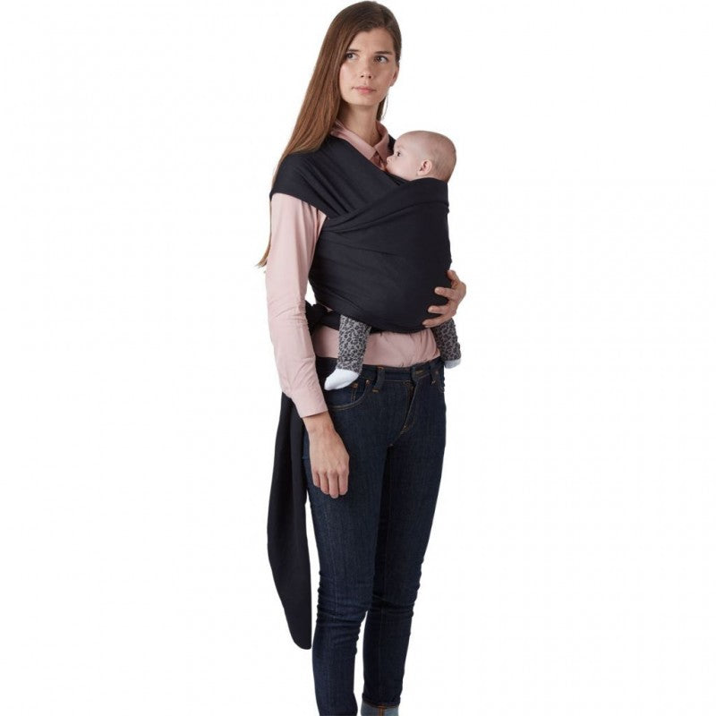 Baby Carry Wrap Black + house of gefion