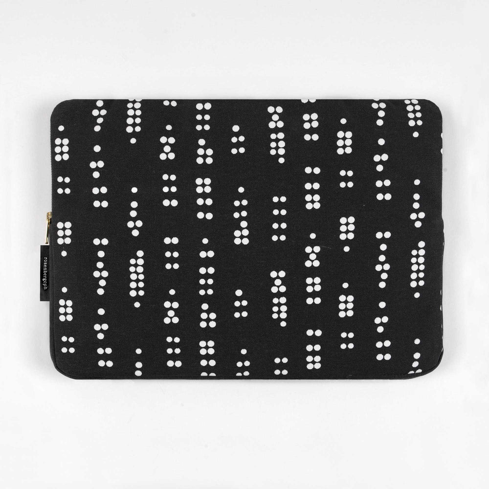 Escape sleeve 15inch - Dot Black (Fits Mac Book Pro)