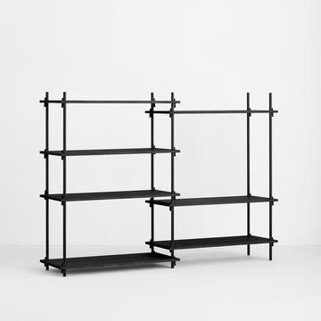 MOEBE SHELVING SYSTEM - MEDIUM DOUBLE - BLACK