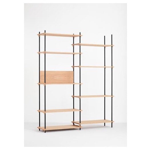 MOEBE SHELVING SYSTEM - TALL DOUBLE - OAK
