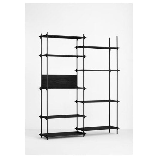 MOEBE SHELVING SYSTEM - TALL DOUBLE - BLACK