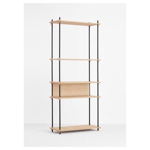 MOEBE SHELVING SYSTEM - TALL SINGLE - OAK