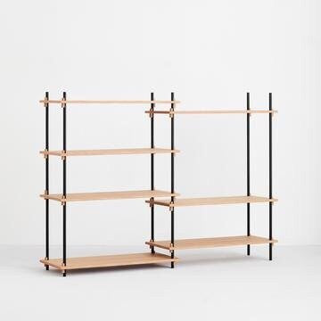 MOEBE SHELVING SYSTEM - MEDIUM DOUBLE - OAK