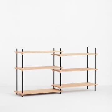 MOEBE SHELVING SYSTEM - LOW DOUBLE - OAK