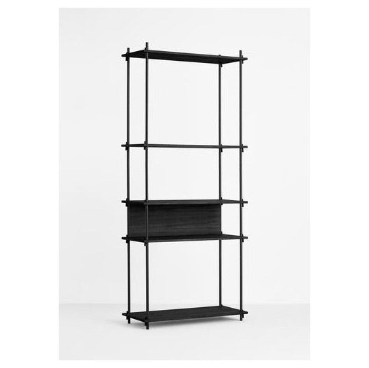 MOEBE SHELVING SYSTEM - TALL SINGLE - BLACK