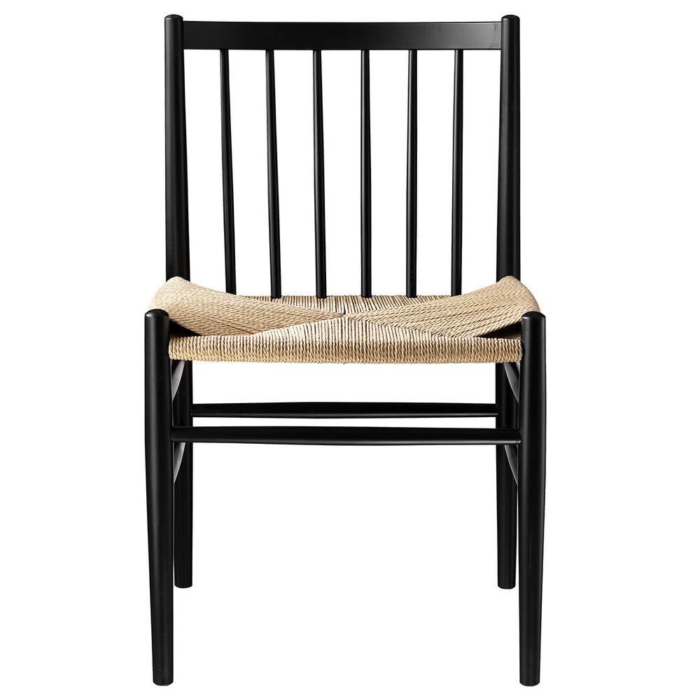 J80 Dining Chair - Black / Nature