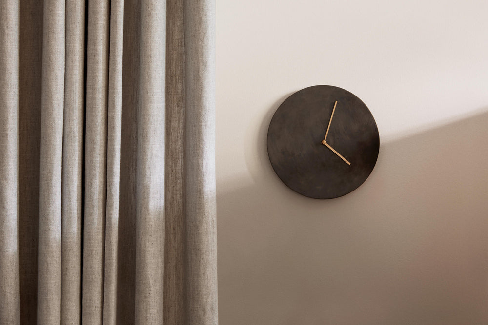 Norm Wall Clock - Bronzed Brass sold in House of Gefion