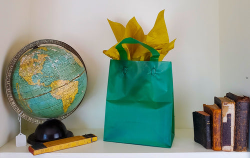 Gift Bag (Includes one sheet of Antique Gold Tissue Paper)