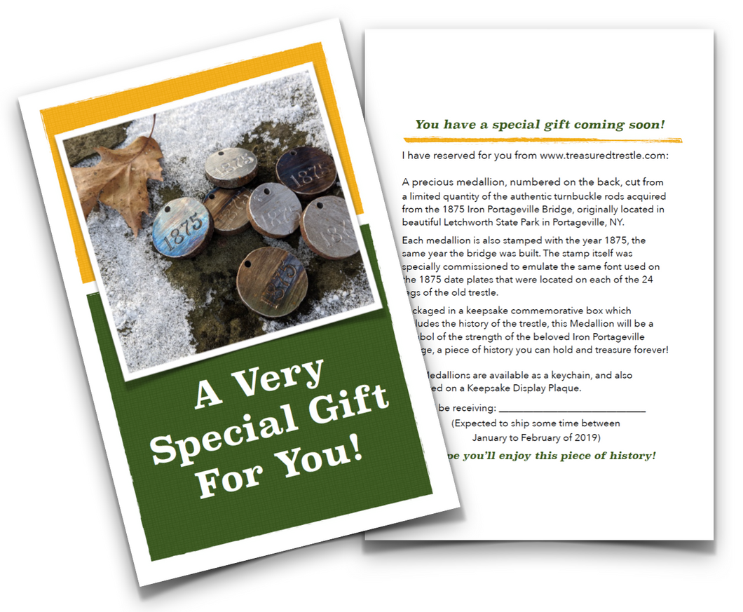 Medallion Gift Card, FREE PDF Download