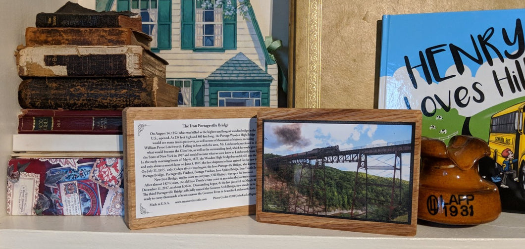 Keepsake Plaque of the 1875 Iron Portageville, New York Trestle Bridge (DOES NOT INCLUDE MEDALLION)