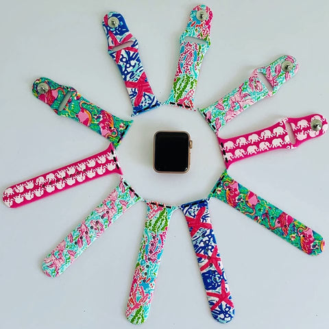 Image of Lilly Pulitzer Inspired Apple Watch Band