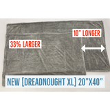 Autofiber Red/Gray Dreadnought Drying Towel 1100gsm - XL Size