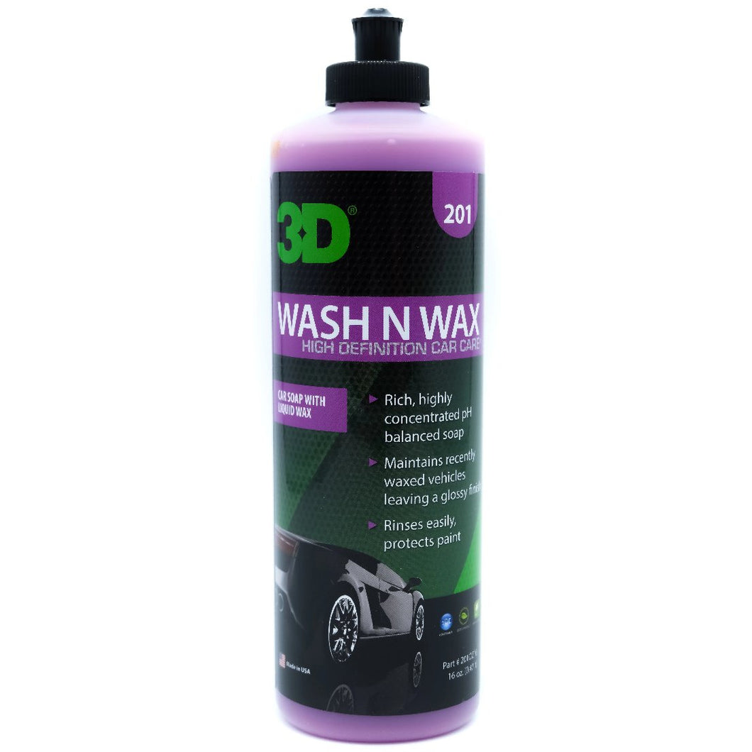 3D Wash N Wax | Paint Cleaner & Protection | Paint Cleaner & Protection | Concentrated All-In-One Car Wash & Wax | professional car detailing products