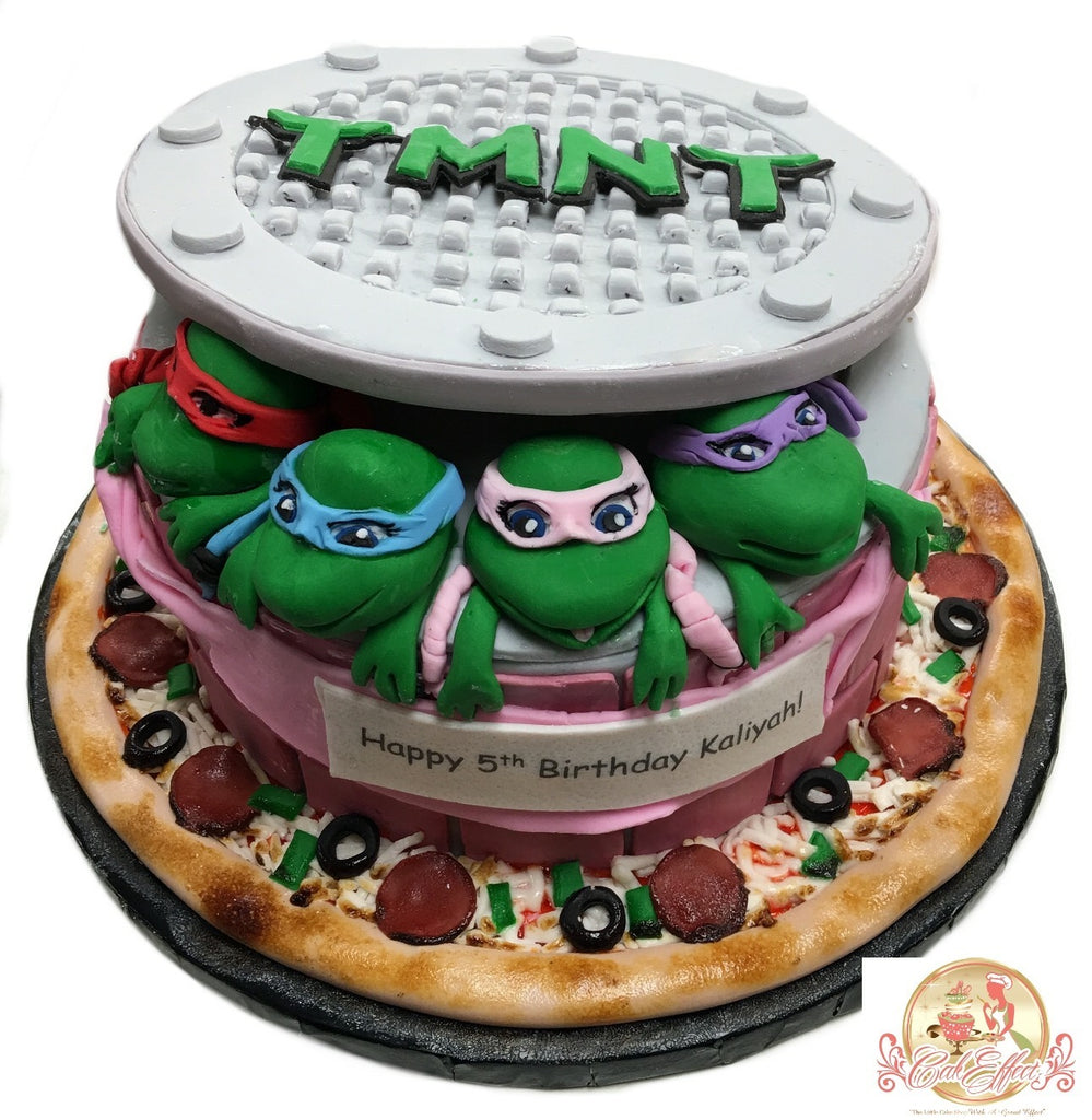 Astounding Tmnt Teenage Mutant Ninja Turtles Birthday Cakes Cakeffect Bakery Birthday Cards Printable Riciscafe Filternl
