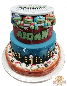 Swell Tmnt Teenage Mutant Ninja Turtles Birthday Cakes Cakeffect Bakery Funny Birthday Cards Online Elaedamsfinfo