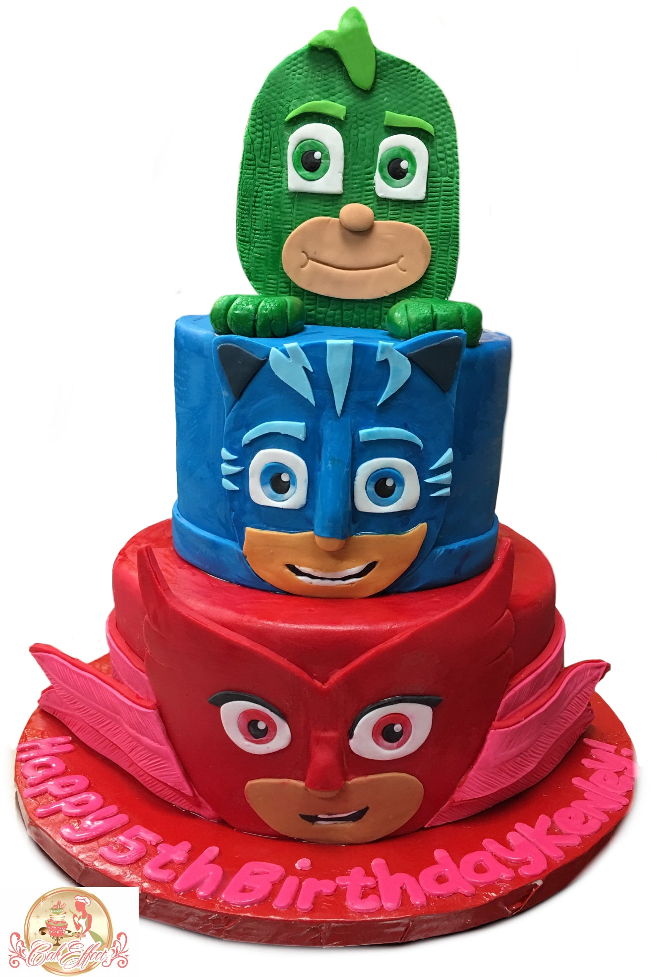 Birthday Cake Green, Red, & Blue Power Rangers - CakEffect Bakery