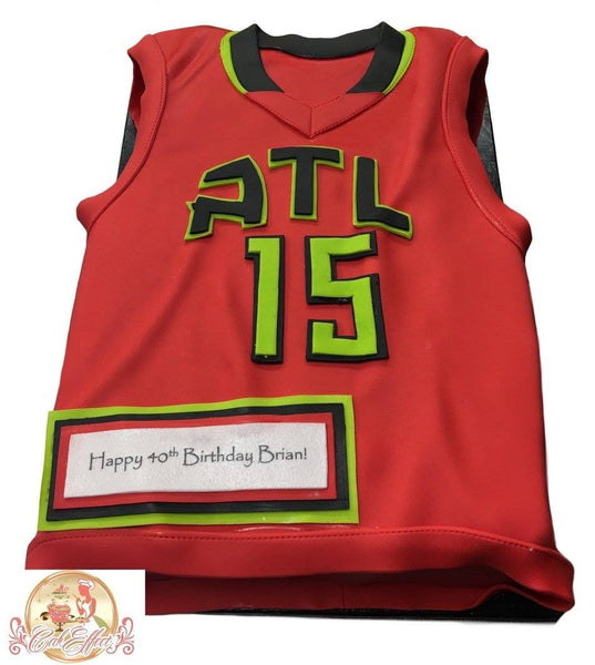 Atlanta Hawks NBA Team Jersey Custom Cakes in Alabama