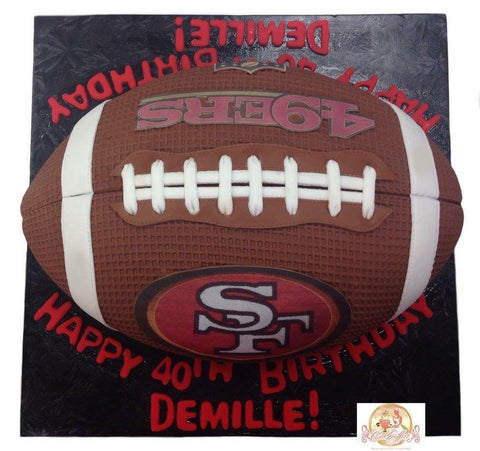 Birthday Cake NFL San Francisco 49ers Football - CakEffect Bakery