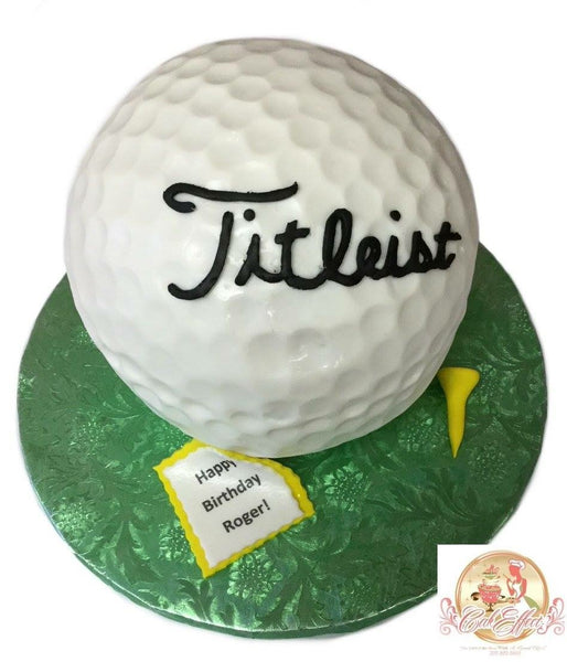 Birthday Cake PGA Golf Titleist Green - CakEffect Bakery