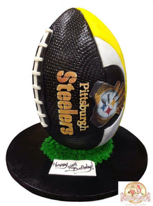 Birthday Cake NFL Pittsburgh Steelers Football - CakEffect Bakery