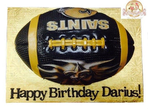 Birthday Cake NFL Saints Football - CakEffect Bakery