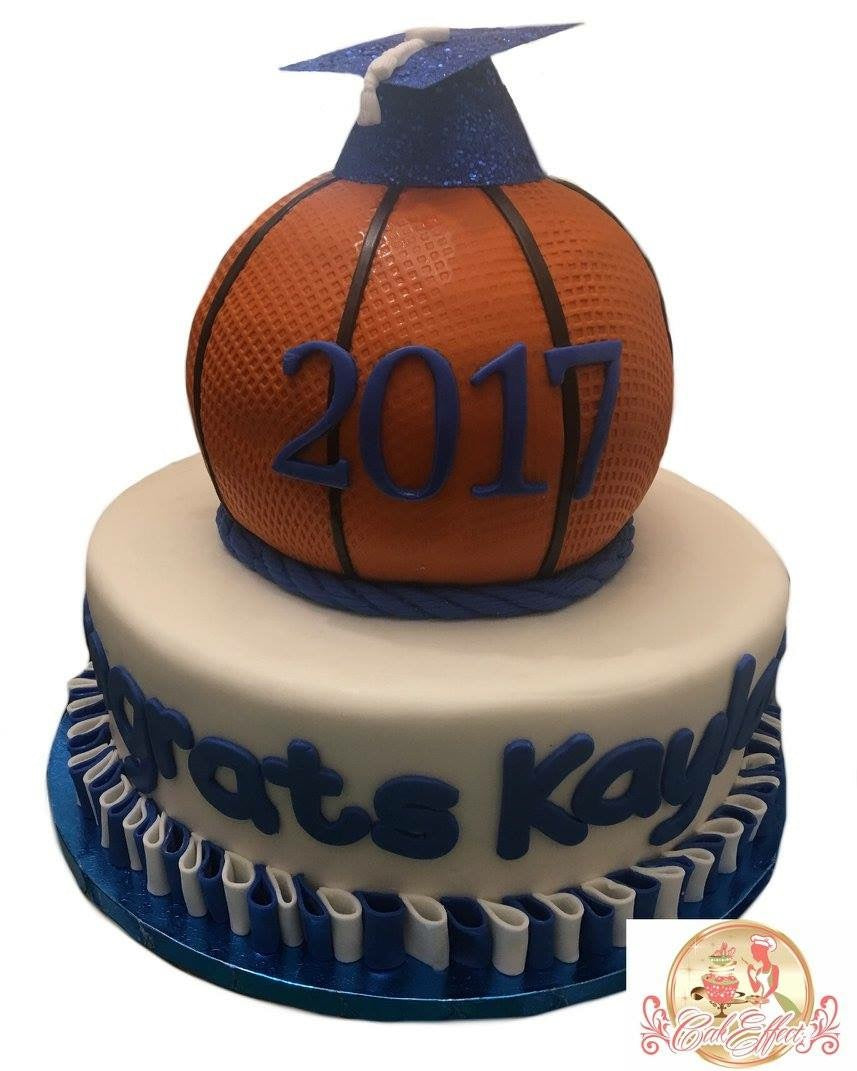 Graduation Cake Basketball Sports - CakEffect Bakery