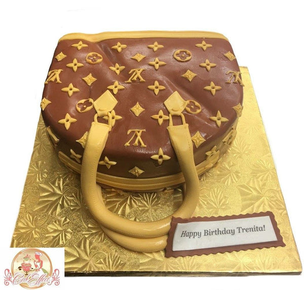 Louis Vuitton Designer Leather Purse Cakes by Komeh of CakEffect Bakery