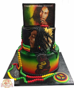 Bob Marley Reggae Gear Birthday Cake Homewood Alabama