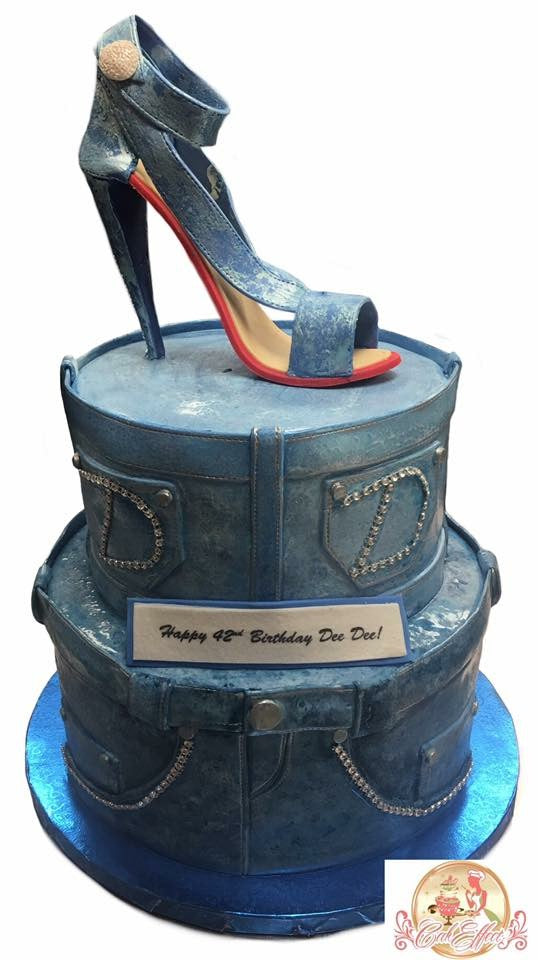 Birthday Cake Denim Fashion Designer Shoe & Jeans - CakEffect Bakery