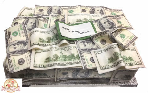 Birthday Cake Money Mother Load Bank Notes - CakEffect Bakery