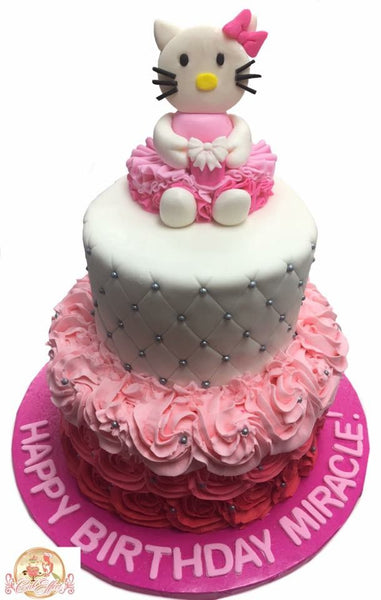 Birthday Cake Hello Kitty Pink - CakEffect Bakery