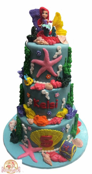 Disney's The Little Mermaid Tower Birthday Cakes Alabama